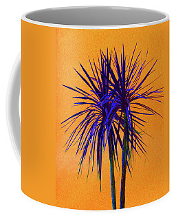 Silhouette On Orange Coffee Mug