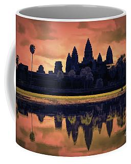Silhouettes Angkor Wat Cambodia Mixed Media  Coffee Mug