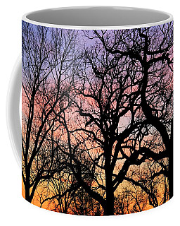 Coffee Mug featuring the photograph Silhouettes At Sunset by Chris Berry