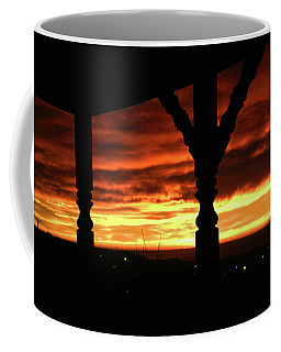 Coffee Mug featuring the photograph Silhouettes In The Sunset by Nareeta Martin