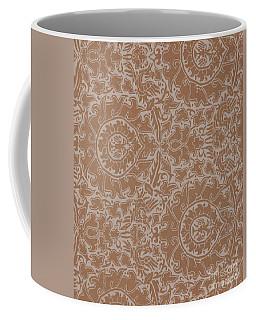 Silk And Gold Damask, Sicilian, 14th Century  Coffee Mug