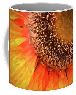 Coffee Mug featuring the photograph Silk Sunflower by SR Green