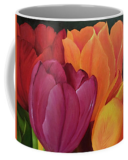 Silky Tulips Unite  Coffee Mug