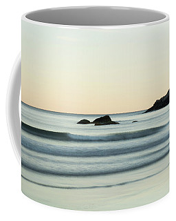 Silky Water And Rocks On The Rhode Island Coast Coffee Mug by Nancy De Flon
