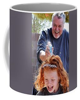 Silly String Attack Coffee Mug by John Glass