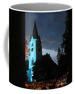 Coffee Mug featuring the photograph Silute Lutheran Evangelic Church Lithuania by Ausra Huntington nee Paulauskaite