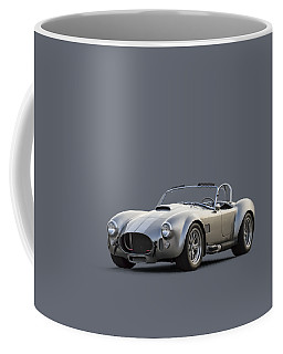 Coffee Mug featuring the digital art Silver Ac Cobra by Douglas Pittman