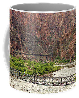 Silver And Black Bridges Over The Colorado, Grand Canyon Coffee Mug