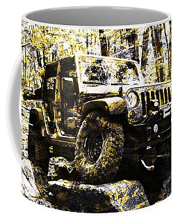 Silver And Gold Jeep Wrangler Jku Coffee Mug