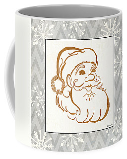Silver And Gold Santa Coffee Mug