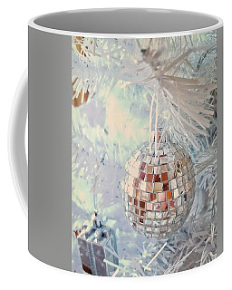 Silver And White Christmas Coffee Mug