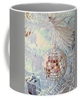 Silver And White Christmas Coffee Mug