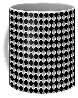 Silver Black Geometric Design Coffee Mug
