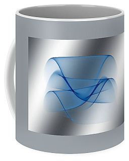 Silver Blue Coffee Mug