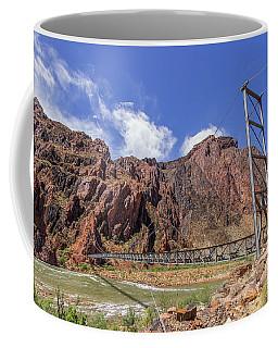 Silver Bridge Over Colorado River - At The Bright Angel Trail Coffee Mug
