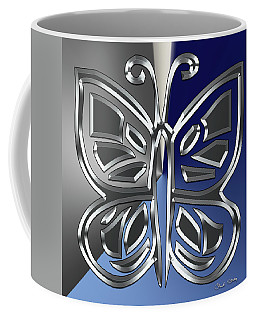Silver Butterfly Coffee Mug