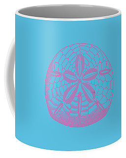 Coffee Mug featuring the digital art Silver Dollars Shell Tee by Edward Fielding