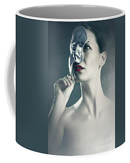 Coffee Mug featuring the photograph Silver Face by Dimitar Hristov
