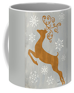 Silver Gold Reindeer Coffee Mug