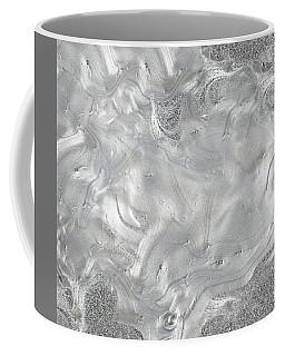 Silver Gray Abstract Minimalist Painting  Coffee Mug