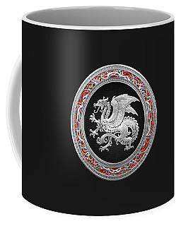 Silver Icelandic Dragon  Coffee Mug
