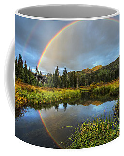 Coffee Mug featuring the photograph Silver Lake Rainbow by Spencer Baugh