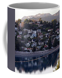 Silver Lake Reservoir And Hollywood Hills Coffee Mug