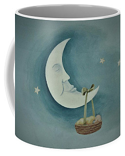 Silver Moon With Picnic Basket Coffee Mug
