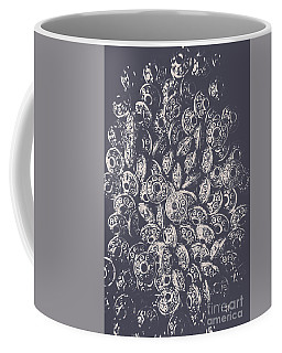 Silver Saucers From Outer Space Coffee Mug