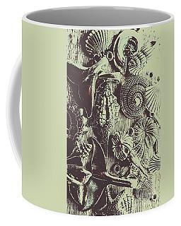 Silver Sea Abstract Coffee Mug