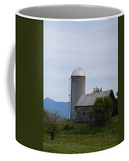 Silver Silo Coffee Mug by Catherine Gagne