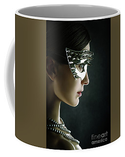 Coffee Mug featuring the photograph Silver Spike Beauty Mask by Dimitar Hristov