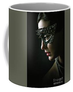 Coffee Mug featuring the photograph Silver Spike Eye Mask by Dimitar Hristov
