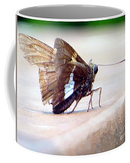 Coffee Mug featuring the photograph Silver Spotted Skipper Butterfly by Rockin Docks Deluxephotos
