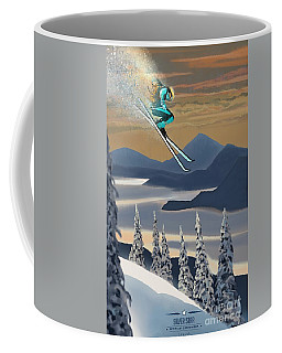 Silver Star Ski Poster Coffee Mug