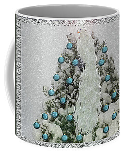 Silver Winter Bird Coffee Mug