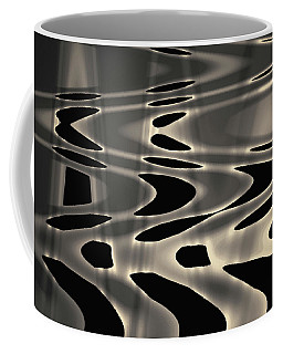 Coffee Mug featuring the photograph Silvery Abstraction Toned  by David Gordon