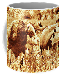 Coffee Mug featuring the photograph Simmental Bull 3 by Larry Campbell