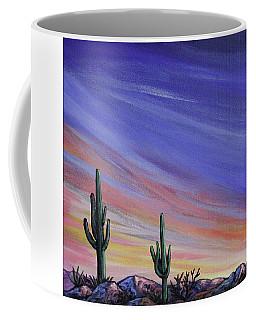 Simple Desert Sunset Three Coffee Mug by Lance Headlee