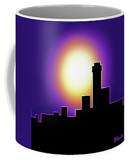 Simple Skyline Silhouette Coffee Mug by Yvonne Blasy
