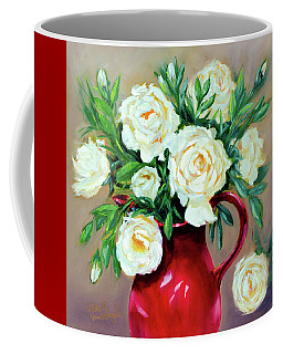 Simple White Roses Coffee Mug