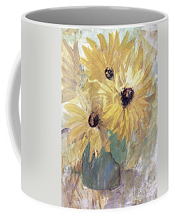 Coffee Mug featuring the painting Simply Sunflowers  by Robin Maria Pedrero