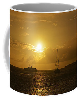 Simpson Bay Sunset Saint Martin Caribbean Coffee Mug