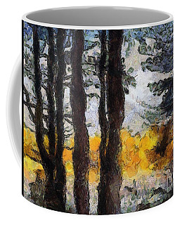 Simulated Van Gogh Scene Coffee Mug by Craig Walters
