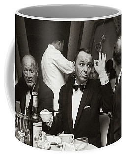 Sinatra And Ed Sullivan At The Eden Roc - Miami - 1964 Coffee Mug