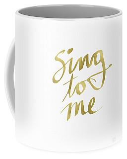 Sing To Me Gold- Art By Linda Woods Coffee Mug