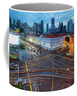 Singapore Chinatown 2017 Chinese New Year Blue Hour Coffee Mug