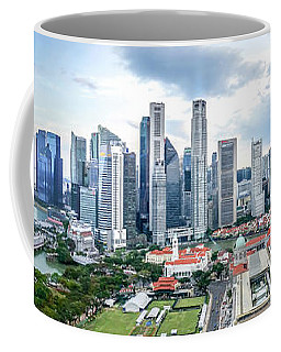 Coffee Mug featuring the photograph Singapore Cityscape by Chris Cousins