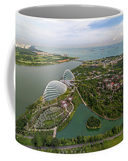 Singapore Marina Barrage Reservoir Aerial View Coffee Mug