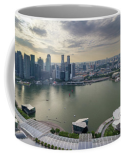 Singapore Marina Bay Cityscape Aerial View Coffee Mug